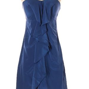 BCBGMaxAzria Navy Strapless  Dress.